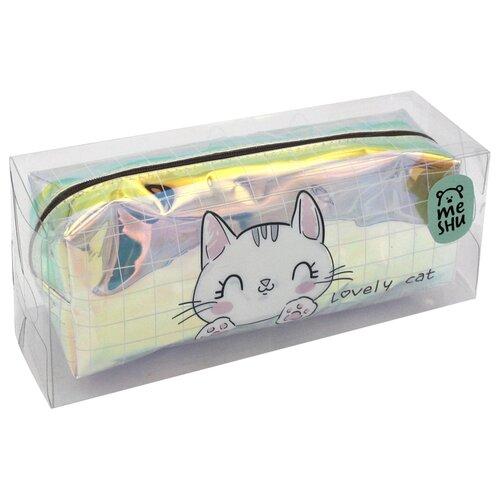 Купить MESHU пенал Lovely cat (Tn_19877) белый, Пеналы