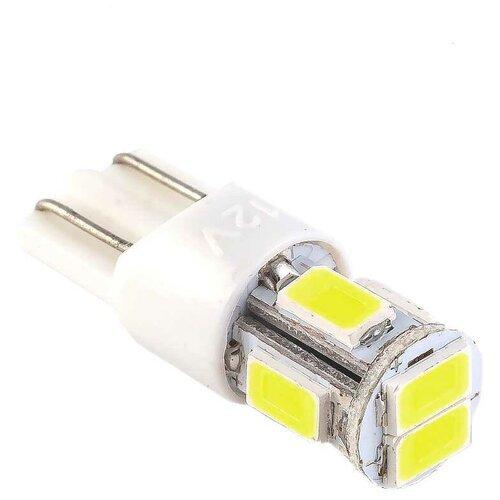 Маяк Лампа светодиодная маяк SUPER WHITE 12V W5W 0.9W 12T10W/6SMD5630