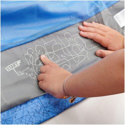 Купить Куртка походная водонепроницаемая детская фиолетовая MH500 KID, размер: 113-122 CM 5-6, цвет: Синий QUECHUA Х Декатлон, Decathlon, Куртки