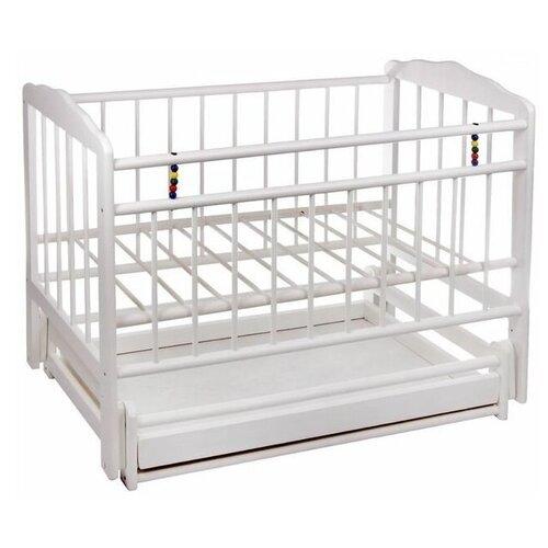 Кроватка ЧП Смирнов Женечка-6 (классическая), поперечный маятник белый