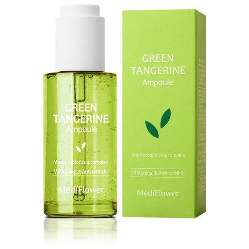 Купить Medi Flower Green Tangerine Ampoule Тонизирующая сыворотка для лица с зеленым мандарином и пробиотиками, 100 мл