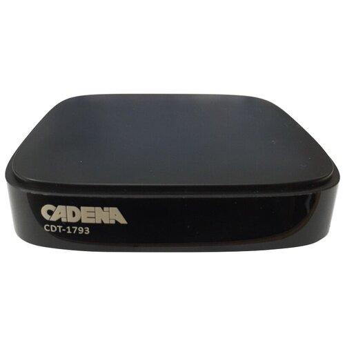 Фото - TV-тюнер Cadena CDT-1793 черный tv тюнер lumax dvbt2 555hd черный