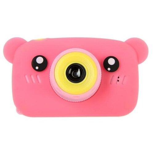 Фото - Фотоаппарат Сима-ленд KIDS Fun Camera Bear Мишка розовый фотоальбом mimishka kids мой первый год мишка тедди pink пг6