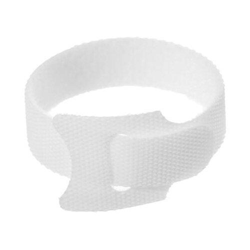 Лента-липучка для стяжки проводов набор 10 шт 15*12 см белая 5161555
