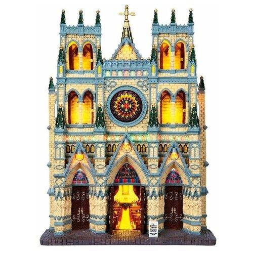 фигурка lemax галерея голубого хребта 18 7 х 22 3 х 14 см черный бежевый Фигурка LEMAX фасад Собор Святого Патрика 33 х 24 х 9 см бежевый