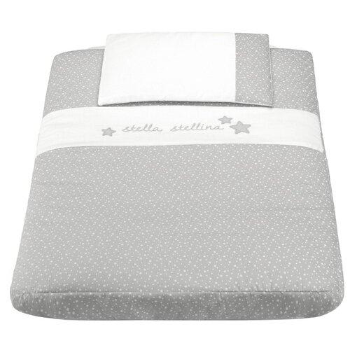 Купить CAM комплект в кроватку для Cullami Stella Stellina (3 предмета) серый/звезды, Постельное белье и комплекты