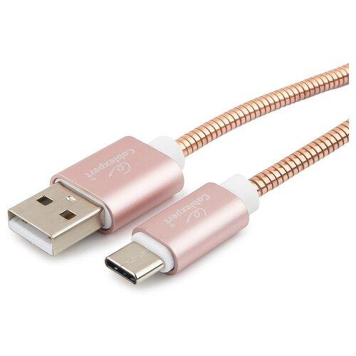 Кабель Cablexpert USB - USB Type-C (CC-G-USBC02Cu-1M) 1 шт. золотой 1 м