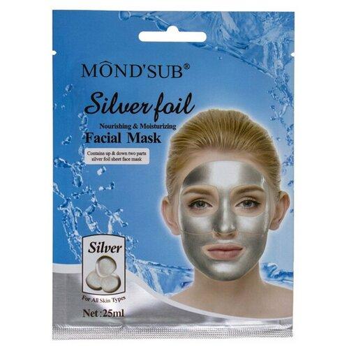 Mondsub Тканевая маска Silver Foil Nourishing & Moisturizing Facial Mask, 25 мл  - Купить