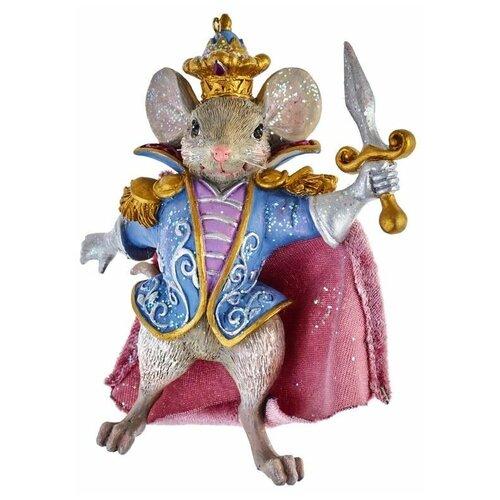 Елочная игрушка Kurt S. Adler Мышиный король (E0426M), голубой/розовый/бежевый недорого