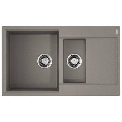 Врезная кухонная мойка 86 см OMOIKIRI Daisen 86-2 ленинградский серый врезная кухонная мойка 86 см omoikiri sakaime 86 2 белый