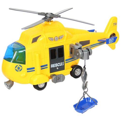 Купить Вертолет WenYi Спасательный (WY750A) 1:16, 27 см, желтый, Машинки и техника