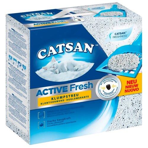Фото - Комкующийся наполнитель Catsan Active Fresh, 5 л комкующийся наполнитель цап царап антимикробный 5 л