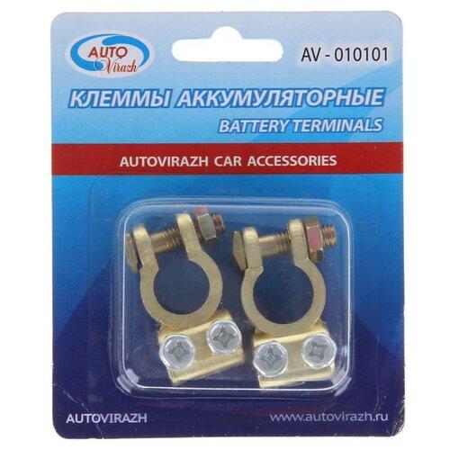 Клеммы АКБ Autovirazh AV-010101, латунь 1271942