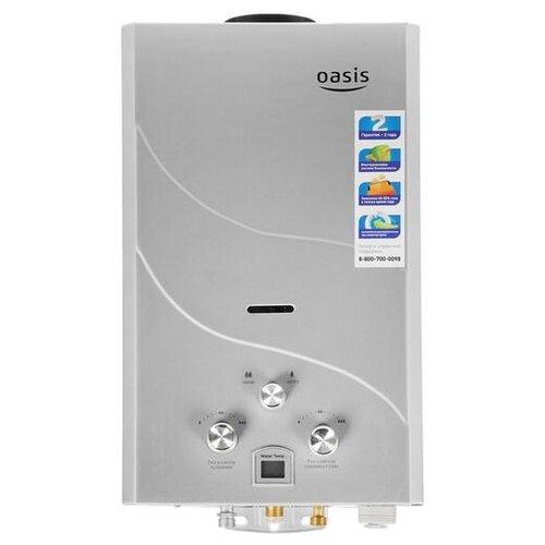 Проточный газовый водонагреватель Oasis 16 кВт сталь проточный электрический водонагреватель oasis np w белый