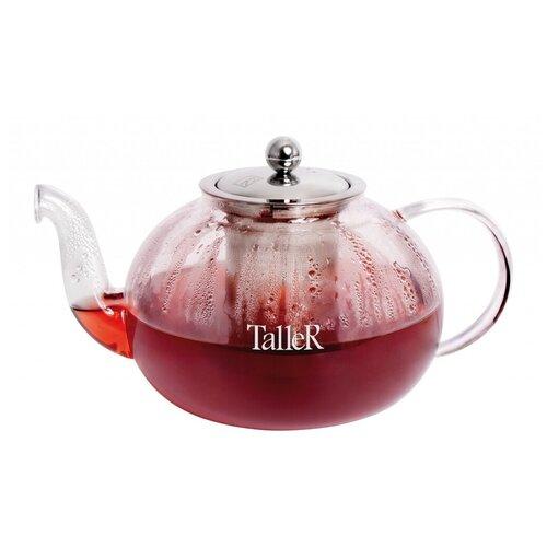 Taller Заварочный чайник Данлир TR-1370 800 мл, прозрачный 1360 tr чайник заварочный taller 600 мл
