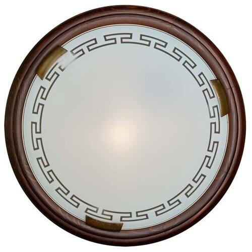 Настенно-потолочный светильник Сонекс Greca Wood 160/K, E27, 120 Вт, кол-во ламп: 2 шт., цвет арматуры: коричневый, цвет плафона: белый светильник без эпра сонекс greca 361 d 50 см e27