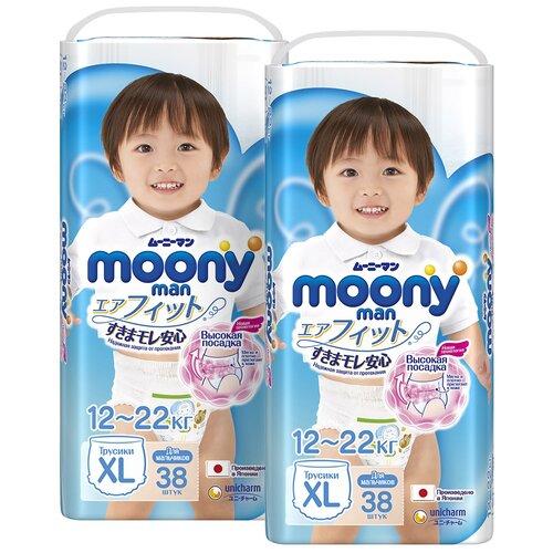 Moony трусики Man для мальчиков XL (12-22 кг), 76 шт., Подгузники  - купить со скидкой