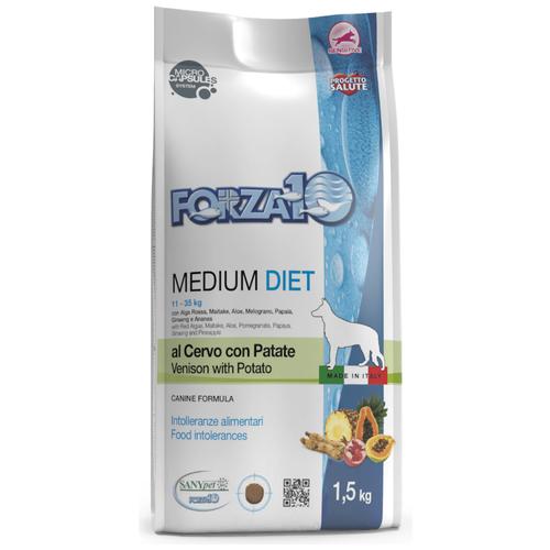 Сухой корм для собак Forza10 оленина, с картофелем 1.5 кг (для средних пород)