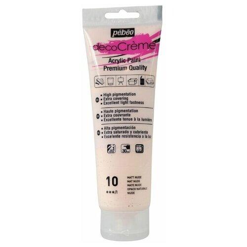 Купить Pebeo Краска акриловая decoCreme кремовая матовая 120 мл 10 телесный, Краски