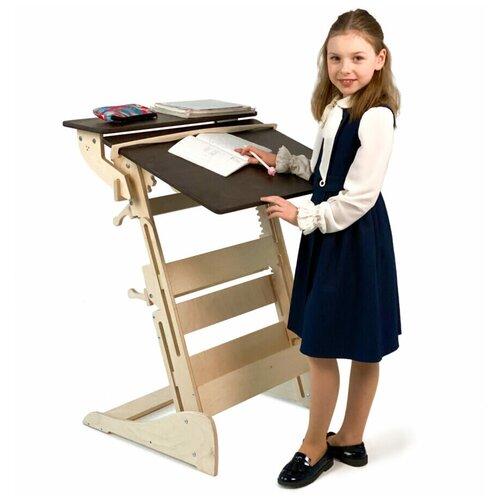 Купить Стол для работы стоя «Гармония» на рост 90-160 см, столешница темный орех, ЖивиСтоя, Парты и столы