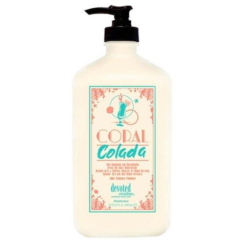Увлажняющий крем для тела ежедневного использования на основе Алоэ вера, конопли, цветов лотоса Devoted Creations - Coral Colada 540 мл.