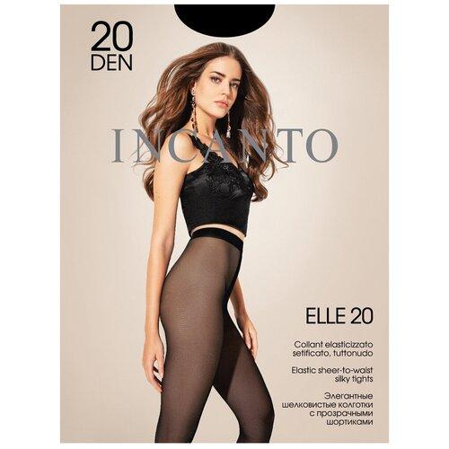 Колготки Incanto Elle, 20 den, размер 4-L, nero (черный)