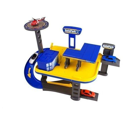 HTI Гараж 2-х уровневый гараж Teamsterz: Mechanics Garage 1415943, синий/желтый