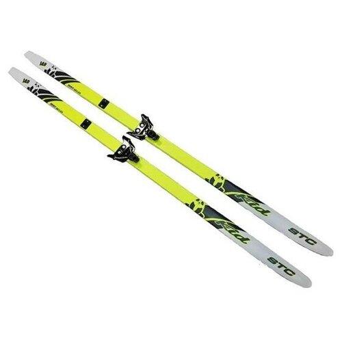 Лыжный комплект (лыжи + крепления) 75 мм 140 СТЕП, Sable kid lemon