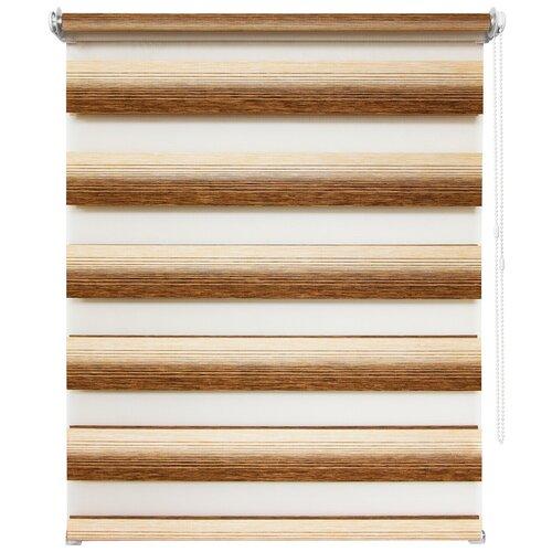 Фото - 7845. Рулонная штора Д/Н 100х160 Рафаэлло коричневый букет рафаэлло