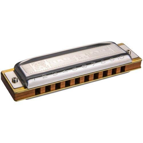 Фото - Губная гармошка Hohner Blues Harp 532/20 MS (M533016X) C, серебристый губная гармошка hohner blues harp 532 20 ms m533096x ab бежевый