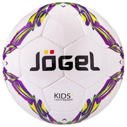 Фото - Футбольный мяч Jogel Kids белый/фиолетовый/желтый 4 мяч jogel js 510 kids 3 ут 00012406