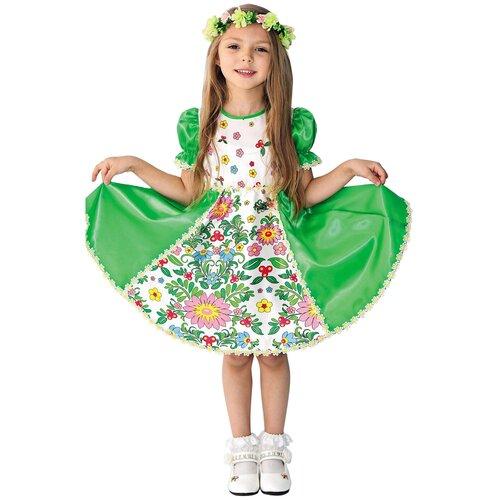 Купить Костюм пуговка Весна (1034 к-18), зеленый, размер 128, Карнавальные костюмы