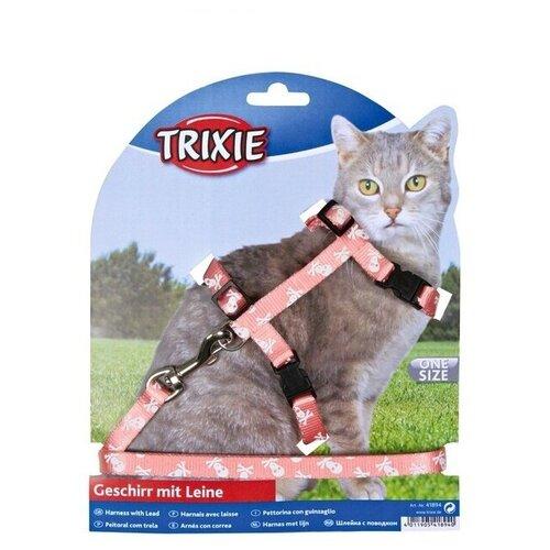 Шлейка с поводком для кошки