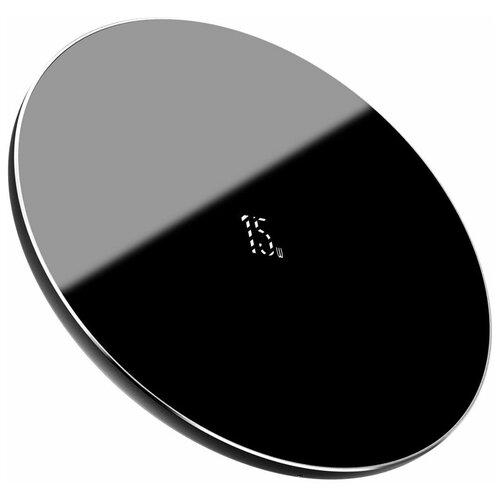 Фото - Беспроводная сетевая зарядка Baseus Simple Wireless Charger 15W Type-C (WXJK-B01), черный беспроводная сетевая зарядка baseus card ultra thin wireless charger черный
