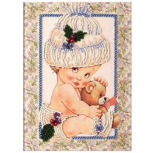 Купить Набор вышивки бисером «Мой мишка», 13x18 см, Кроше (Радуга бисера), Наборы для вышивания