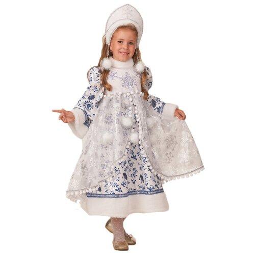Купить Костюм Батик Снегурочка новогодняя (1947), белый, размер 110, Карнавальные костюмы