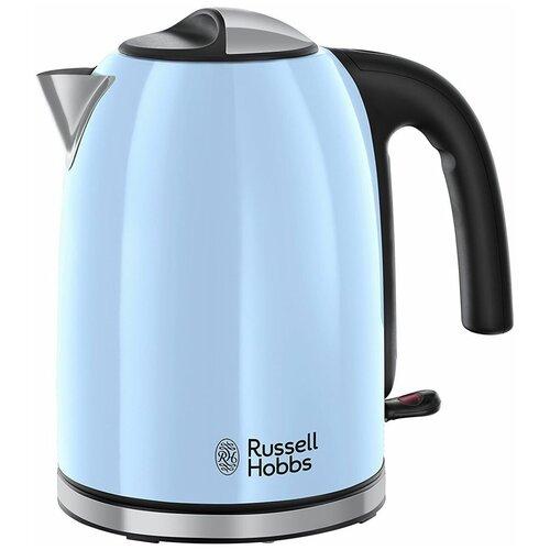 Фото - Чайник Russell Hobbs 20417-70, голубой чайник russell hobbs 24990 70 серебристый