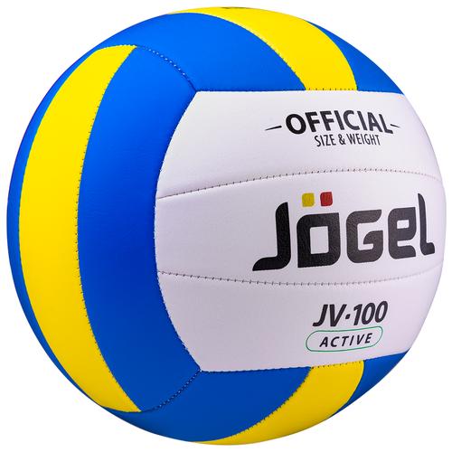 Волейбольный мяч Jogel JV-100 белый/синий/желтый