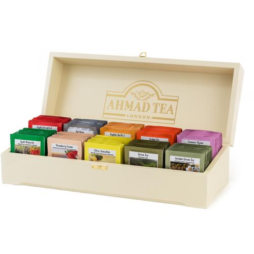 чай черный ahmad tea таинственные сумерки ассорти в пакетиках 30 шт Чай Ahmad tea Contemporary ассорти подарочный набор в пакетиках, 100 шт.