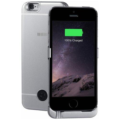 Чехол-аккумулятор INTERSTEP Metal battery case для iPhone 5/5S/SE space gray