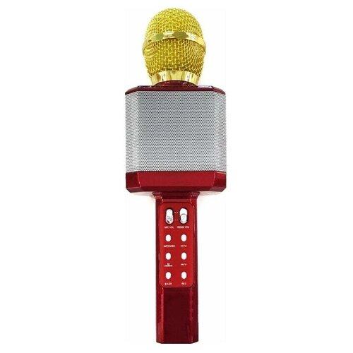 Беспроводной караоке-микрофон WS-1828 (красный)