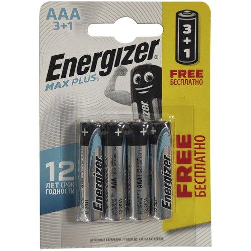 Фото - Батарейка AAA LR03 ENERGIZER MAX PLUS 4 шт батарейка energizer max aaa lr03 алкалиновая 4bl