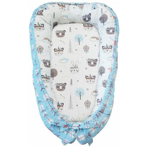 позиционеры для сна amarobaby подушка позиционер для сна кокон гнездышко little baby радуга Позиционер для сна Amarobaby Little Baby Индейцы