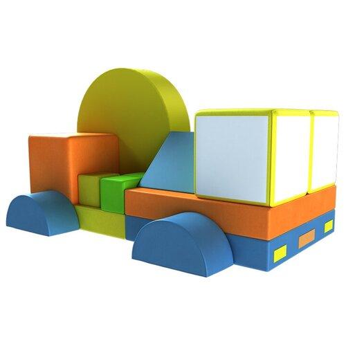 Купить Мягкий игровой комплекс ROMANA Автофургон ДМФ-МК-15.82.00, желтый/оранжевый/голубой, Игровые и спортивные комплексы и горки