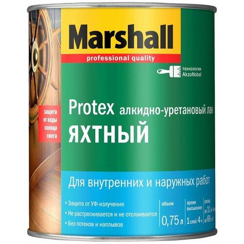 Фото - Лак яхтный Marshall Protex Yat Vernik 90 алкидно-уретановый бесцветный 0.75 л лак marshall protex parke cila 40 алкидно уретановый бесцветный 2 5 л