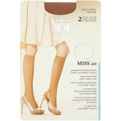 Капроновые гольфы Sisi Miss 20 den New, 2 пары, размер 0 ( one size), miele