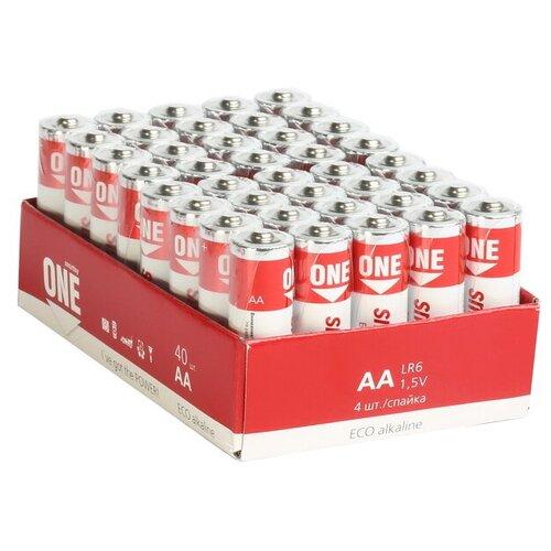 Фото - Батарейка SmartBuy One Eco Alkaline AA, 40 шт. батарейка energizer max plus aa 4 шт