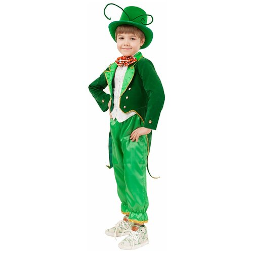 Фото - Костюм пуговка Кузнечик (2080 к-20), зеленый, размер 116 костюм пуговка кузнечик 2080 к 20 зеленый размер 128