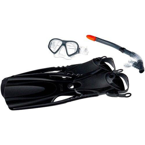 Фото - Набор для плавания с ластами Intex Reef Rider черный набор для плавания intex aqua pro серый