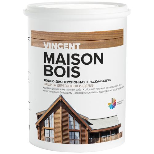Фото - Краска акриловая VINCENT Maison en Bois влагостойкая матовая белый 0.9 л vincent dubois sujetos en la burocracia